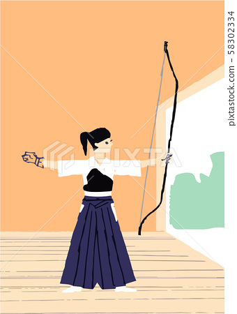 A woman playing archery 58302334