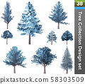 Tree correction design set. 3D Illustration. 58303509