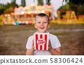 Popcorn child festival fair colorful background 58306424