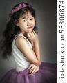 portrait of asian little  girl 58306874