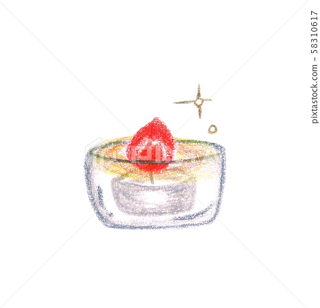 Candle color pencil drawing 58310617