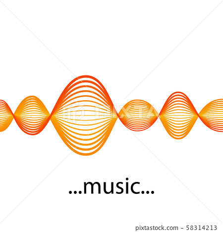 Vector Sound Waveforms. Sound waves and musical pulse icons. 58314213