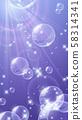 Sea_Underwater_Beautiful氣泡背景illustration_Glitter 58314341
