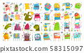 Monster character cartoon funny design for kids. 58315097