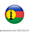 New Caledonia flag on button 58319214