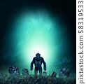 Graveyard Horror Monster 58319533