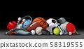 Sport Objects On Black 58319555