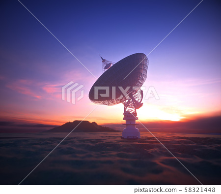 Antenna Satellite Dish Clipping Path Included 58321448