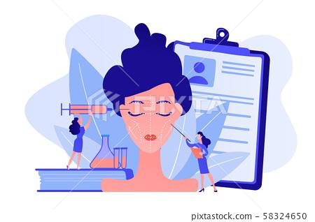 Facial contouring concept vector illustration. 58324650