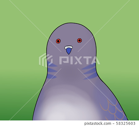 A bird with a fun expression (a series of emotions and green backgrounds) 58325603