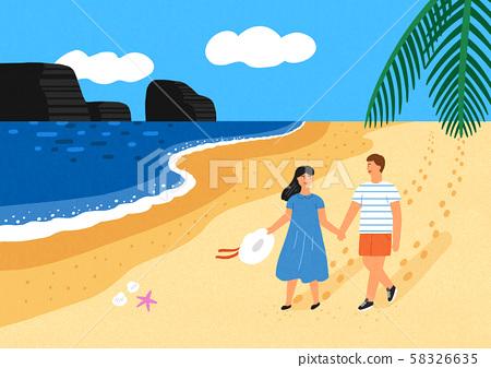 Happy summer travel illustration 002 58326635
