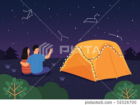 Happy summer travel illustration 005 58326700