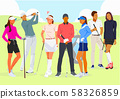 Healthy lifestyle concept, group of sports members illustration 009 58326859