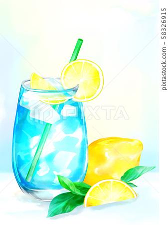 Summer iced drinks illustration 007 58326915