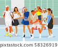 Healthy lifestyle concept, group of sports members illustration 010 58326919