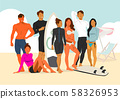 Healthy lifestyle concept, group of sports members illustration 001 58326953