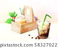 Summer iced drinks illustration 004 58327022
