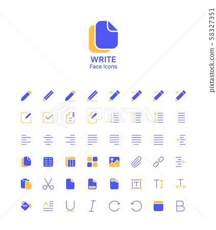 Modern thin line flat design icons set for website and app design 111 58327351