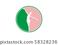 ballet, dance logo Designs Inspiration Isolated on 58328236