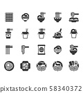 Noodle icon set.Vector illustration 58340372