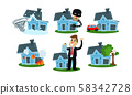 Different Kinds Of Misfortune With Property And Insurance Cases Vector Illustrations Set 58342728