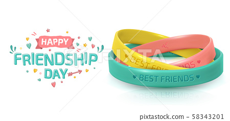 Friendship Day. Rubber bracelets for friend band 58343201