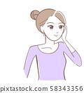 女性皮肤护理图 58343356