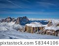 Ski resort in Dolomites, Italy 58344106