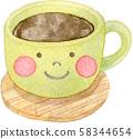 커피 얼굴 58344654