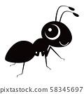 개미 캐릭터 벡터 일러스트 58345697