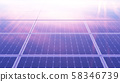 Solar panels at sunset. Alternative energy. Ecological, clean energy. Photovoltaic solar panels 58346739