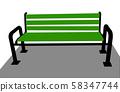 a bench illustration vector 58347744