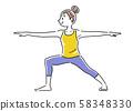 插圖素材:女人,瑜伽,姿勢 58348330