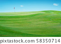 Beautiful perfect scenery view of Golf course green grass field . 58350714