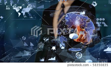 VR 5G AI人工智能Fintech Fintech MaaS ICT區塊鏈3D 58350835
