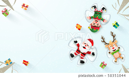 Origami paper art reindeer make a snow angel Vector Image | 272x450