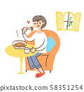파스타를 먹는 여자 58351254