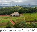 Aerial view of villa under construction 58352329