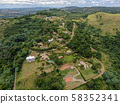 Aerial view of luxury villa in tropical valley 58352341