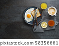 Breakfast healthy with egg 58356661