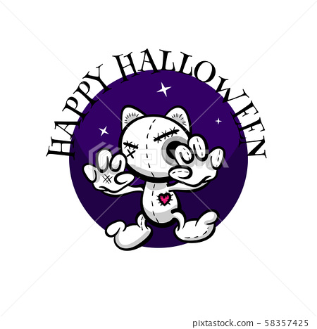 Cute evil rabbit halloween woodoo sewing toy 58357425