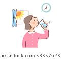 물을 마시는 여성 58357623