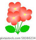 Viola simple color variation illustration 58360234