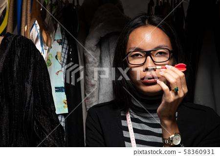 Duo Tomboy Ladyboy Fashion Designers check pattern 58360931