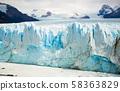Vertical edge of glacier Perito Moreno 58363829