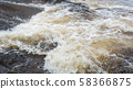 Water flood on river after heavy rain rapids water 58366875