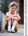 girl sad portrait 58368680