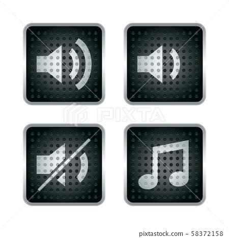 사운드, 버튼, 아이콘 58372158