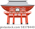 Shido Shrine image Sightseeing area illustration icon 58378440