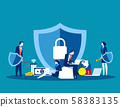Technology security. Concept business vector, Data 58383135